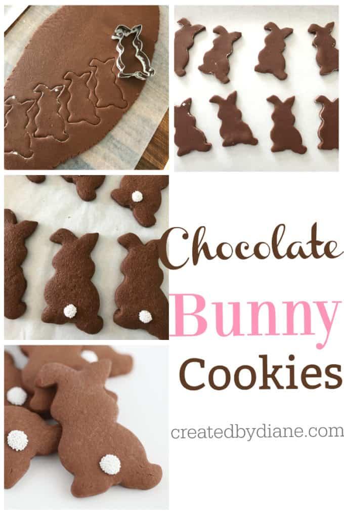 chocolate bunny cookies from createdbydiaine.com