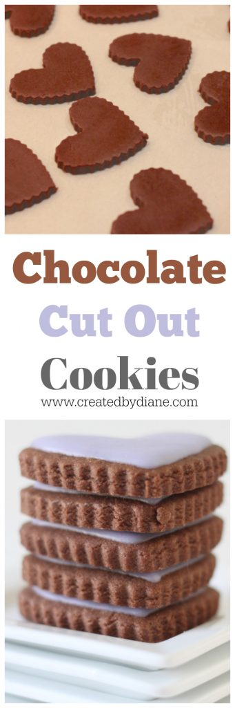 chocolate cut out sugar cookies with cookie cutters