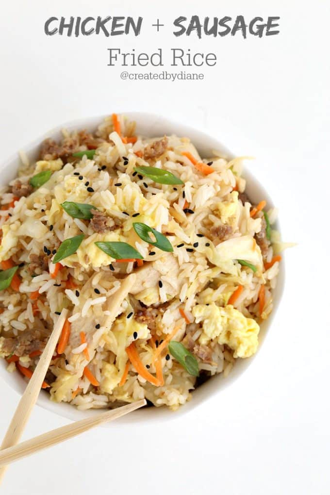 Chicken And Sausage Fried Rice Created By Diane