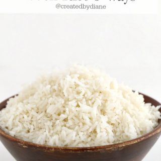 how to cook rice 3 ways