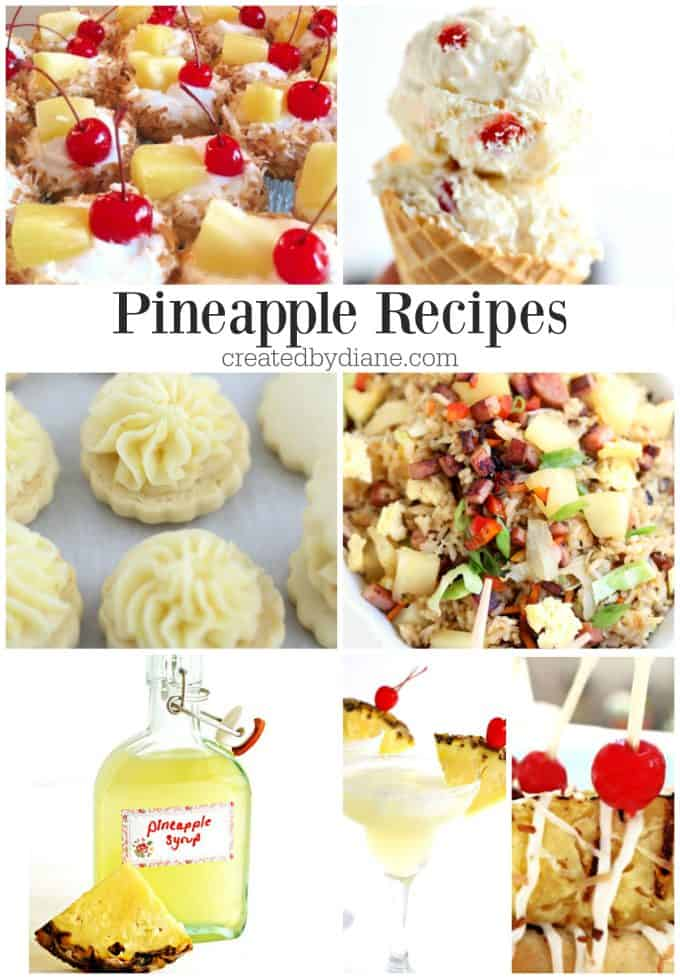 pineapple recipes createdbydiane.com