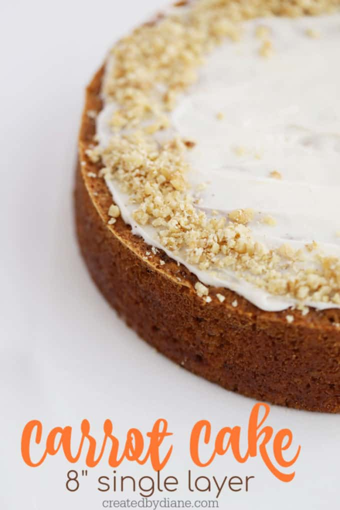 8 single layer Carrot Cake createdbydiane.com