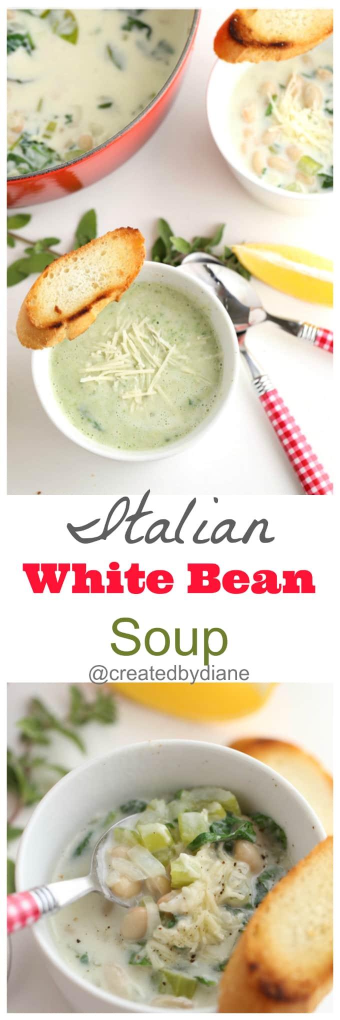 Italian White Bean Soup Recipe with Lemon from @createdbydiane