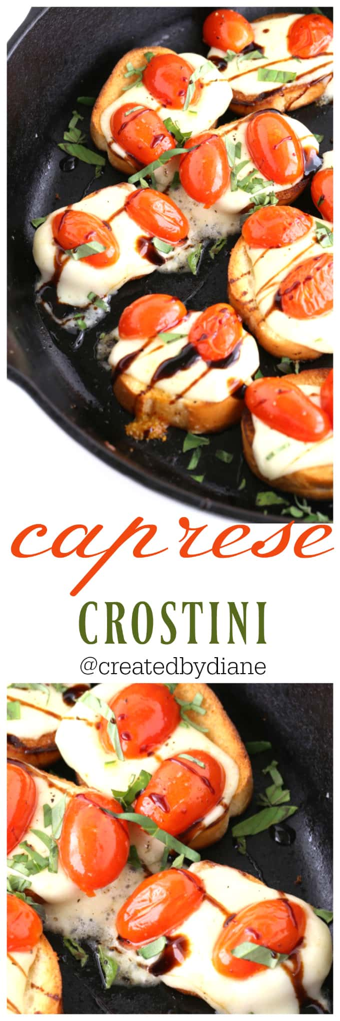 caprese crostini appetizer from @createdbydiane