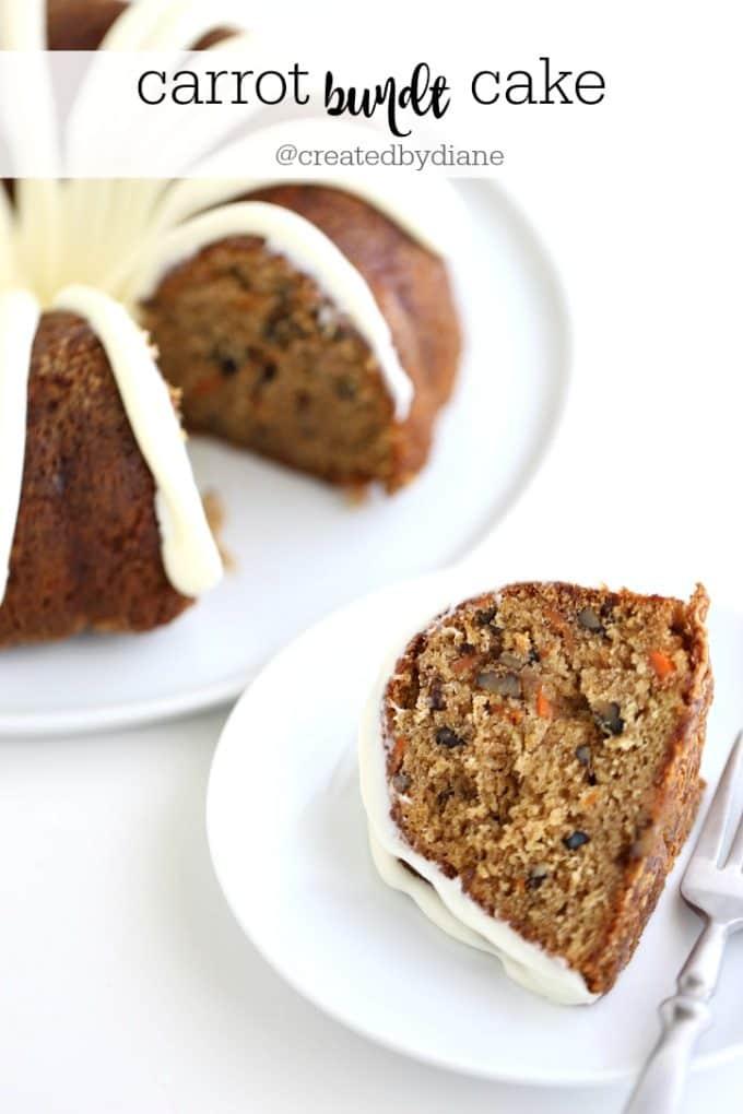 carrot bundt cake @createdbydiane