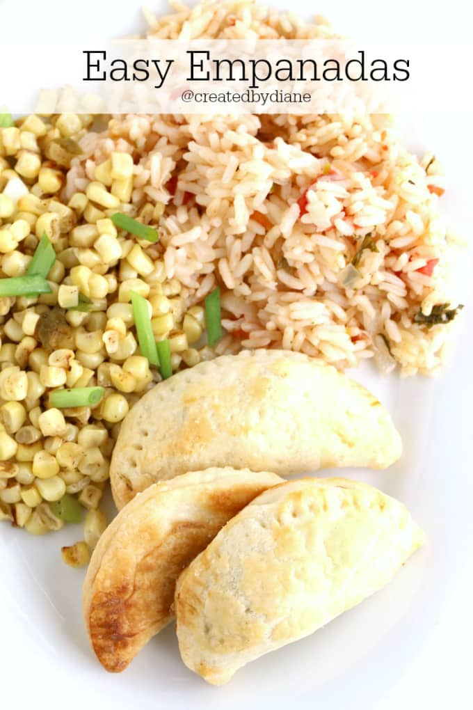 Easy Empanadas which make a great Mexican dinner, appetizer fun cinco de mayo recipe @createdbydiane