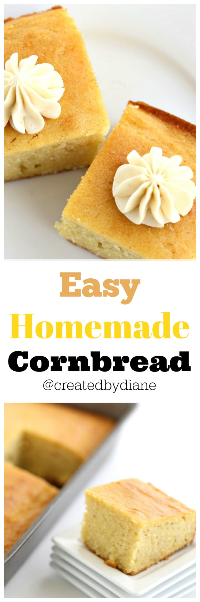 easy homemade cornbread and honey butter recipe from @createdbydiane
