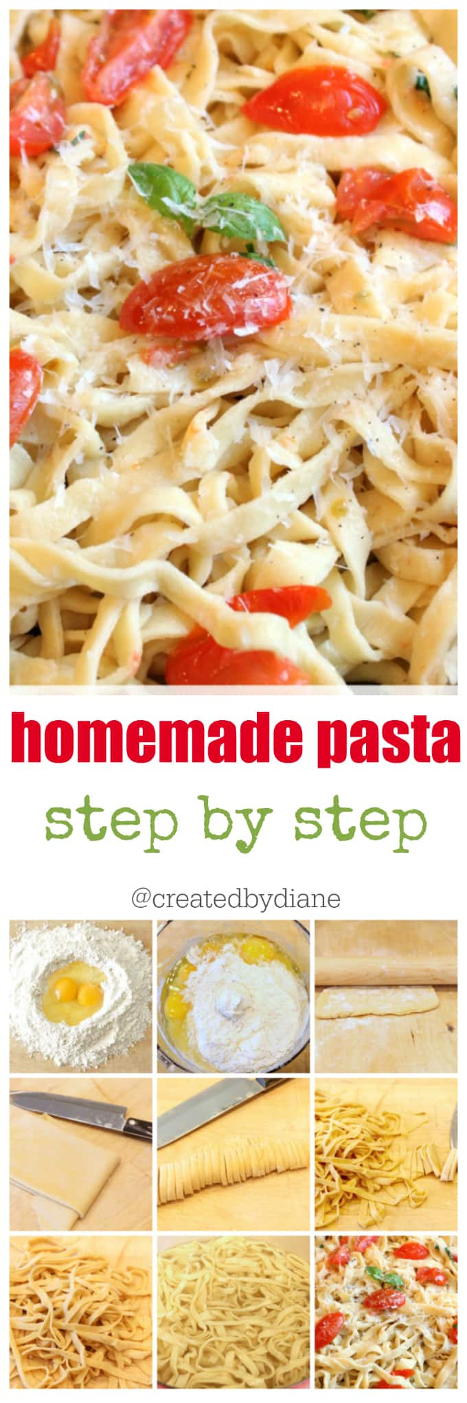 homemade pasta recipe and how to @createdbydiane