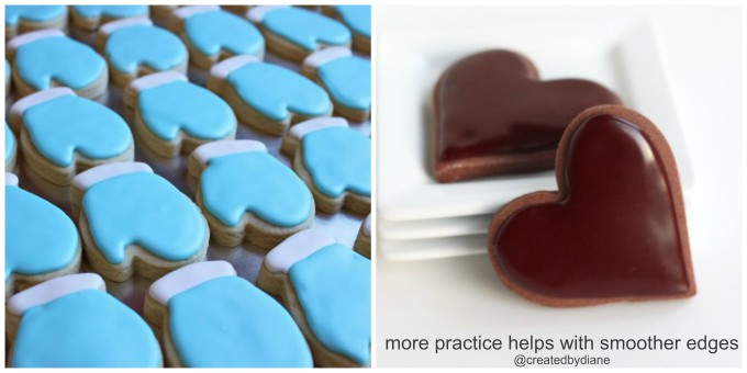 more practice with a piping bag and piping tip will help with smoother edges @createdbydiane