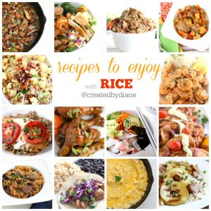 recipes to enjoy with rice @createdbydiane