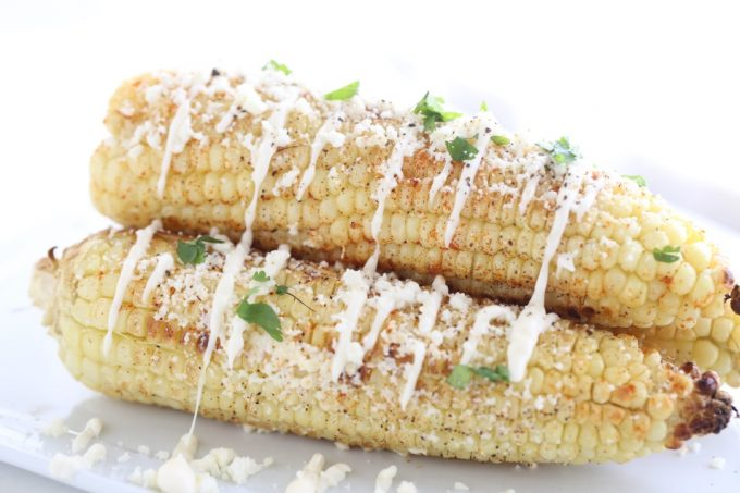 Mexican Corn, grilled or in the oven