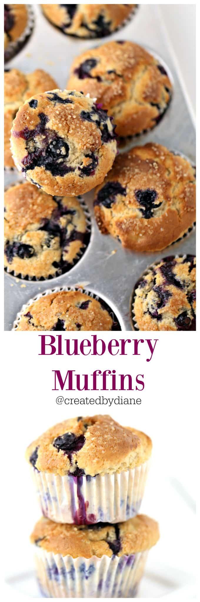 blueberry muffins @createdbydiane