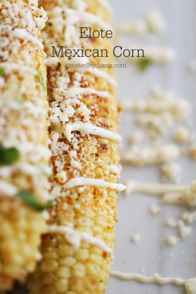 elote corn recipe createdbydiane.com