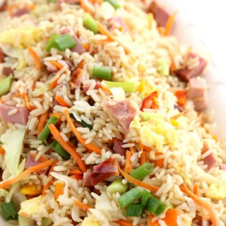 Leftover Ham Fried Rice + low carb option