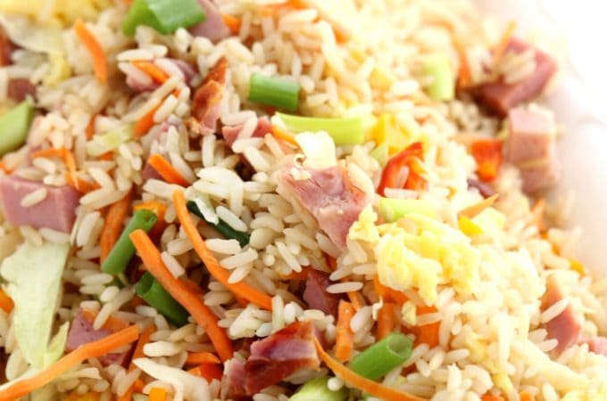 leftover ham fried rice @createdbydiane