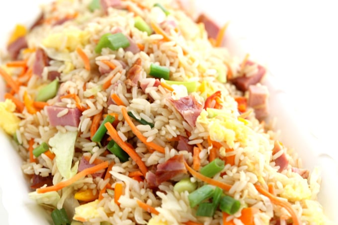 leftover ham fried rice, holiday leftovers, @createdbydiane