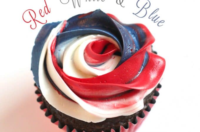 patriotic cupcakes and recipes red white and blue @createdbydiane