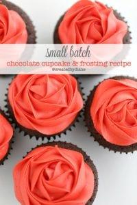 small batch 6 chocolate cupcake and frosting recipe @createdbydiane