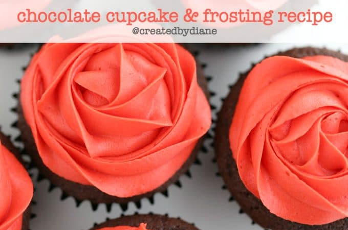 small batch 6 chocolate cupcake and frosting recipe @createdbydiane