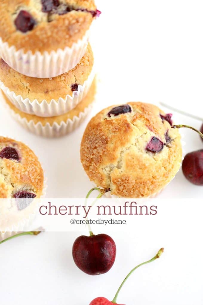 cherry muffin recipe @createdbydiane