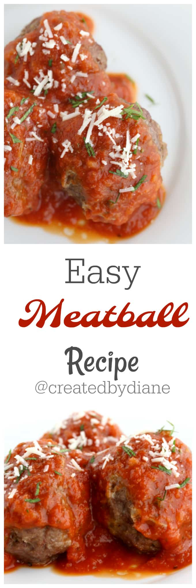 easy meatball recipe from @createdbydiane
