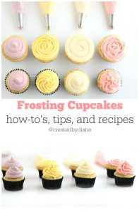frosting cupcakes how-to's, tips, and recipes @createdbydiane