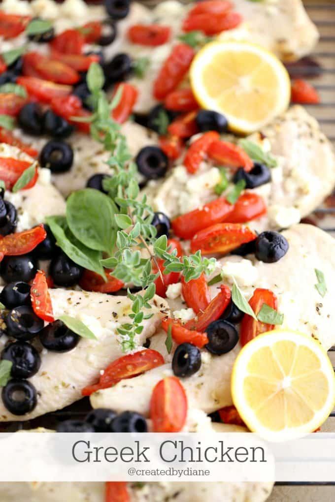 greek chicken recipe @createdbydiane