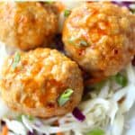 Buffalo Chicken Meatballs @createdbydiane