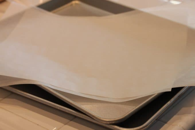 baking sheets and parchment paper for baking great cookies