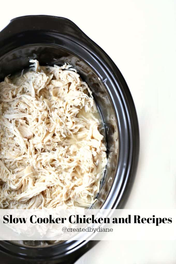 slow cooker chicken and recipes @createdbydiane