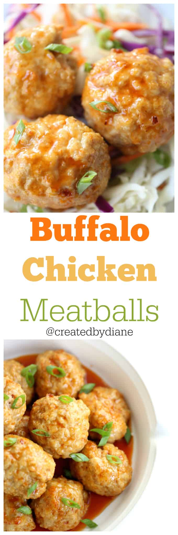 buffalo chicken meatball recipe from @createdbydiane