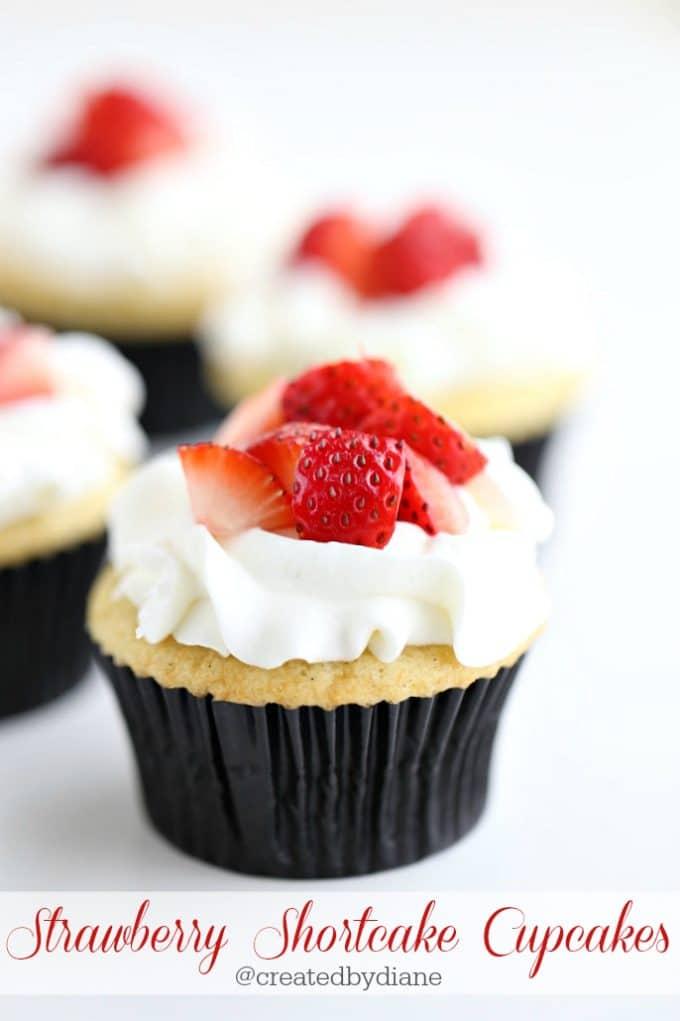 strawberry shortcake cupcakes from @createdbydiane