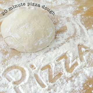 20 minute pizza dough recipe @createdbydiane