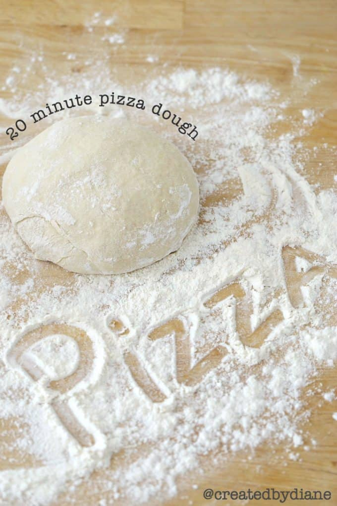 20 minute pizza dough recipe @createdbydiane