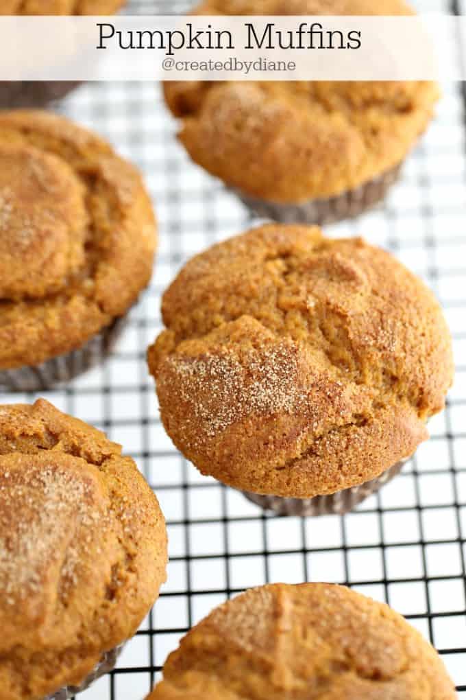 Pumpkin Muffin Recipe @createdbydiane