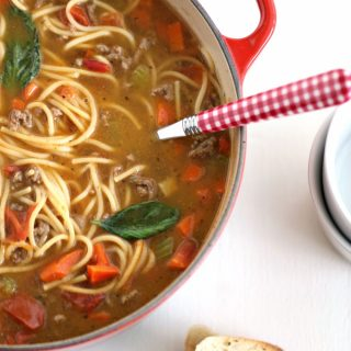 One Pot Spaghetti Soup