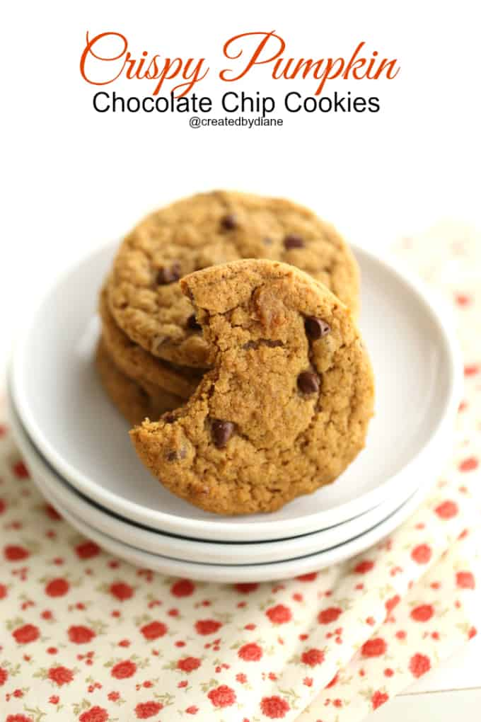crispy cookies with pumpkin and chocolate chips @createdbydiane
