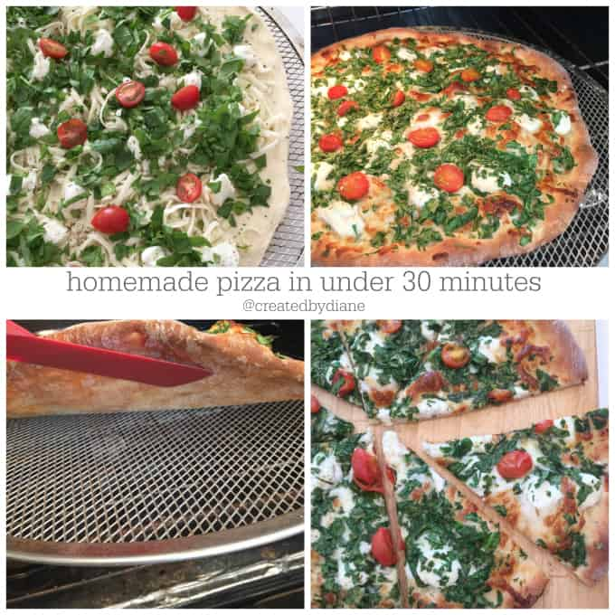 homemade pizza in under 30 minutes @createdbydiane #vegetarian #pizza