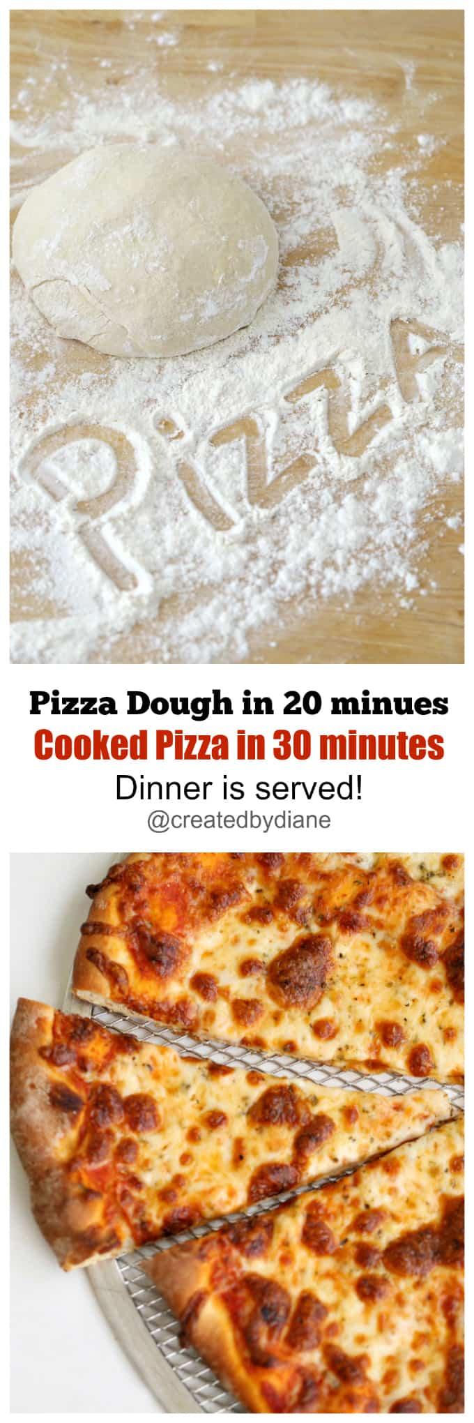 20 Minute Pizza Dough Recipe | Created by Diane
