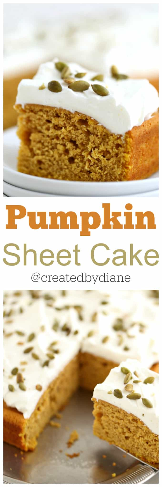 simple pumpkin sheet cake @createdbydiane