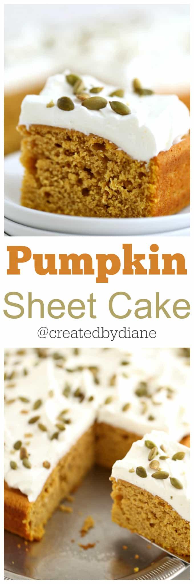 simple pumpkin sheet cake @createdbydiane