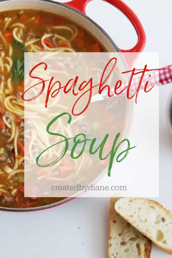 spaghetti soup recipe createdbydiane.com