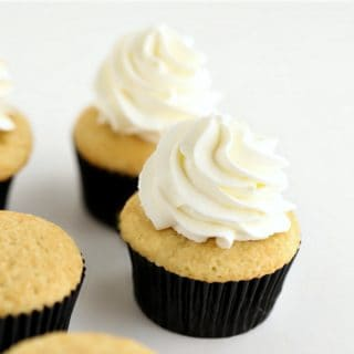 Small Batch Vanilla Cupcakes