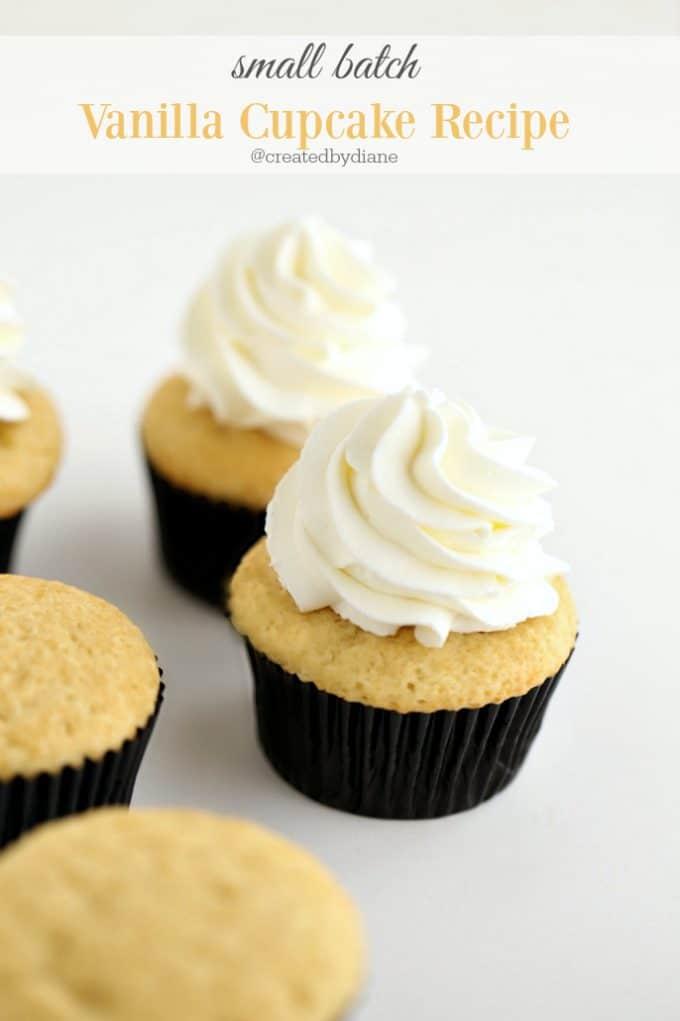 vanilla cupcake recipe for 6 cupcakes
