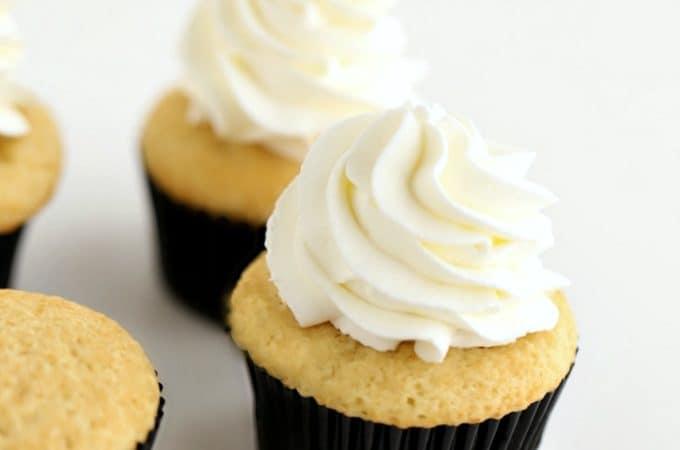 vanilla cupcake recipe for 6 cupcakes @createdbydiane