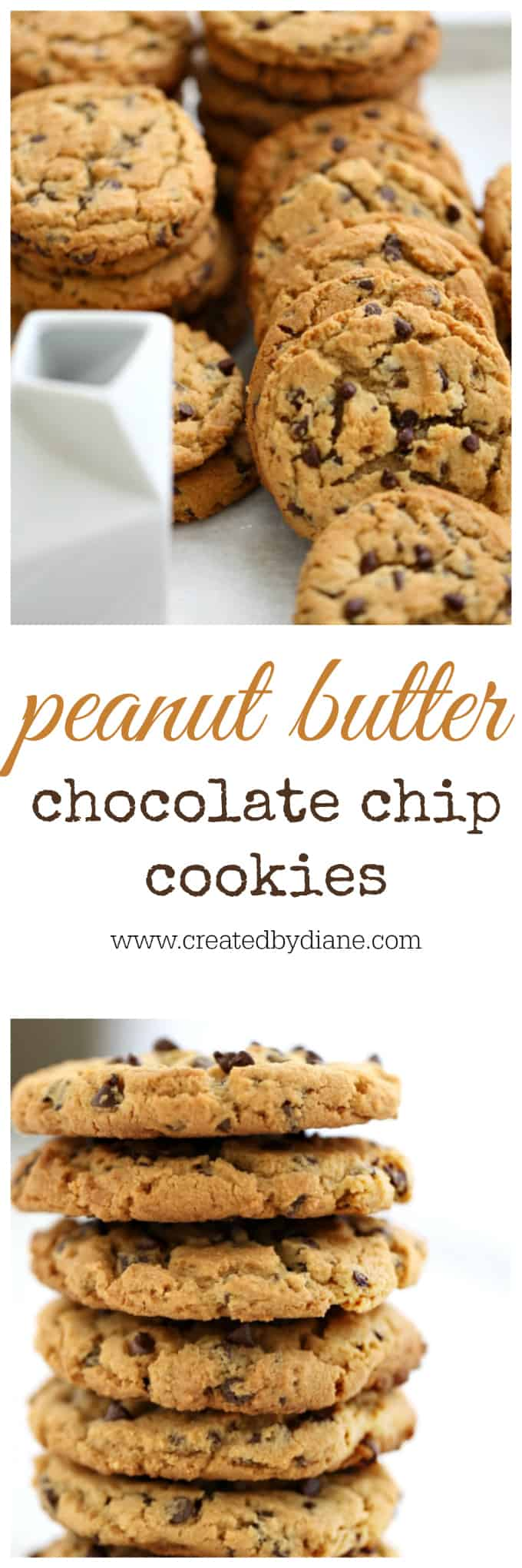 BIG Peanut Butter Chocolate Chip Cookies www.createdbydiane.com