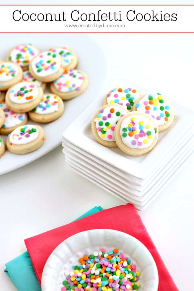 Coconut Confetti Cookies | Created by Diane