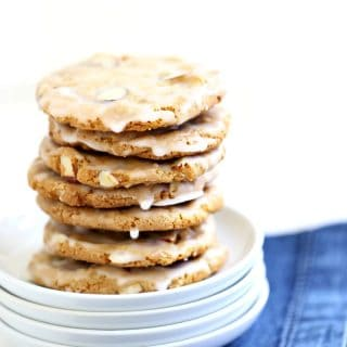Glazed Almond Cookies