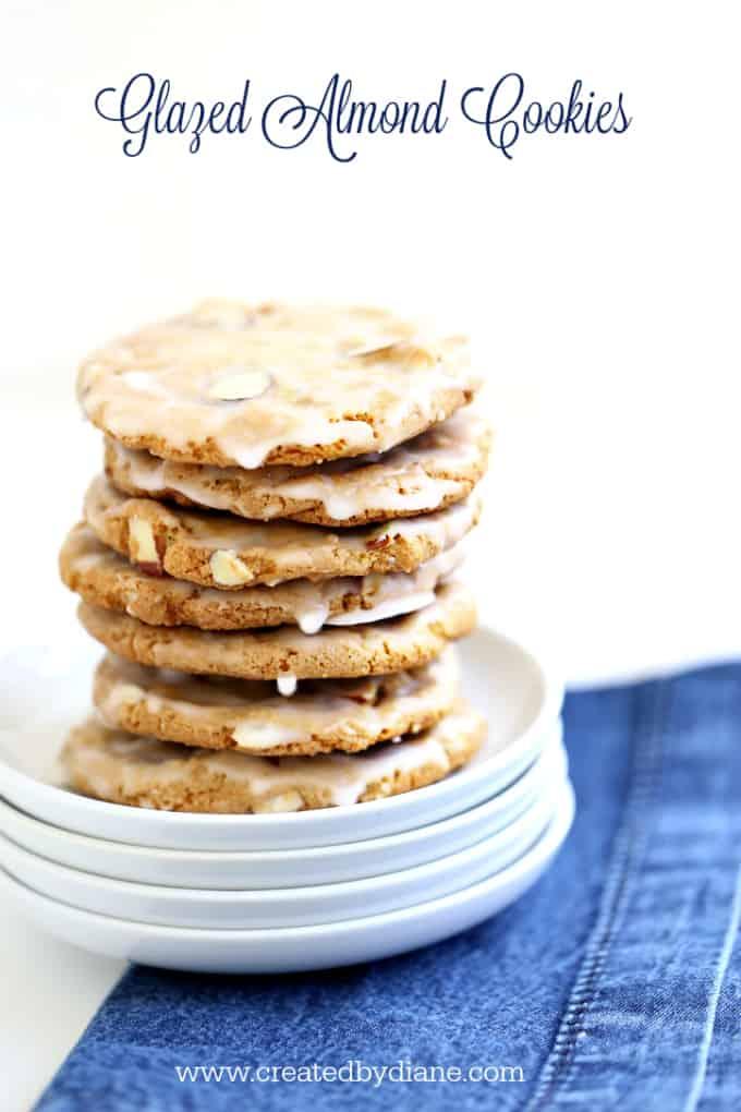 Glazed Almond Cookies www.createdbydiane.com