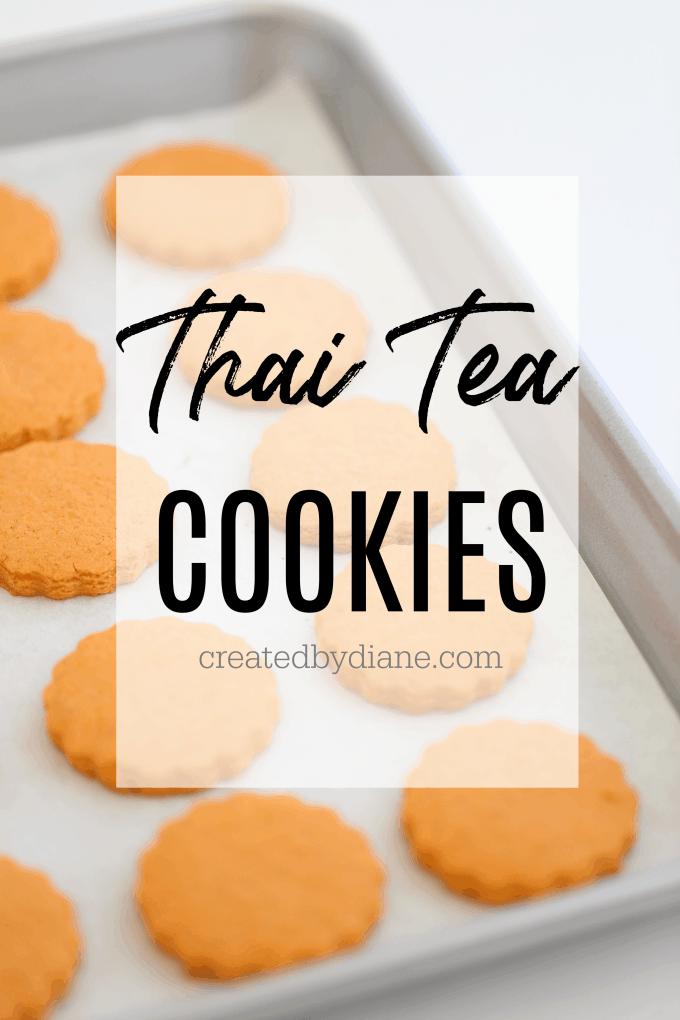 Thai Tea Cookies createdbydiane.com